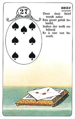 Lenormand kaart De Brief